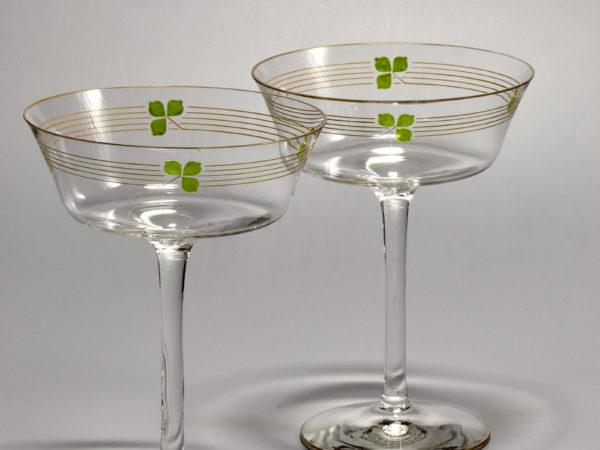 Champagnerschale, Theresienthal - Schöne Alte Gläser