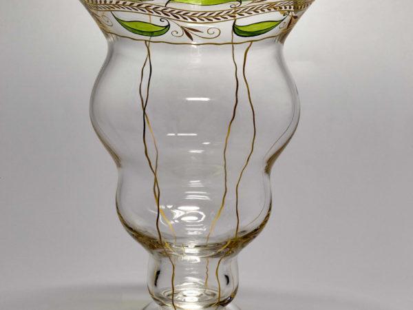Vase von Julius Mühlhaus, Haida, Böhmen - Schöne Alte Gläser